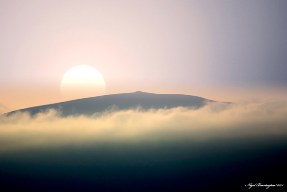 Slievenamon sunset 2011