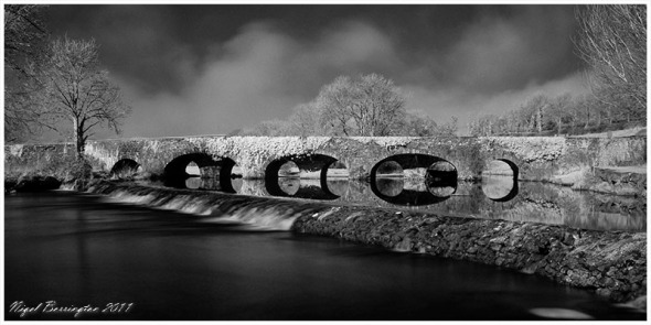 Infrared photogrpahy, Bridge over the Kings river kells Co.Kilkenny