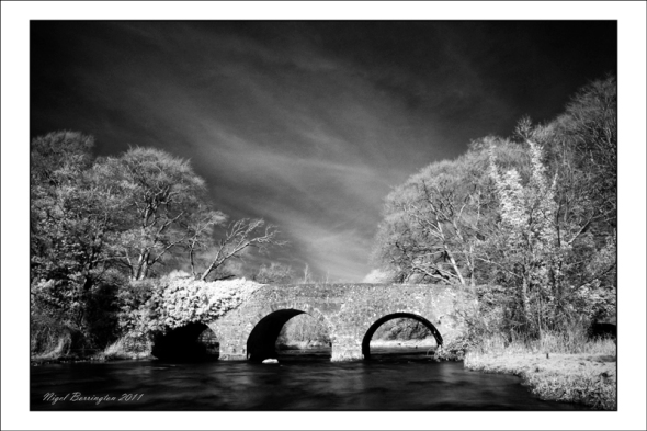 Ir image of the bridge over the anna river