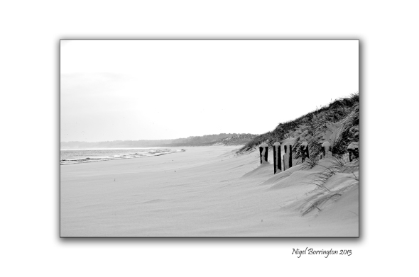 Curracloe Beach in the snow
