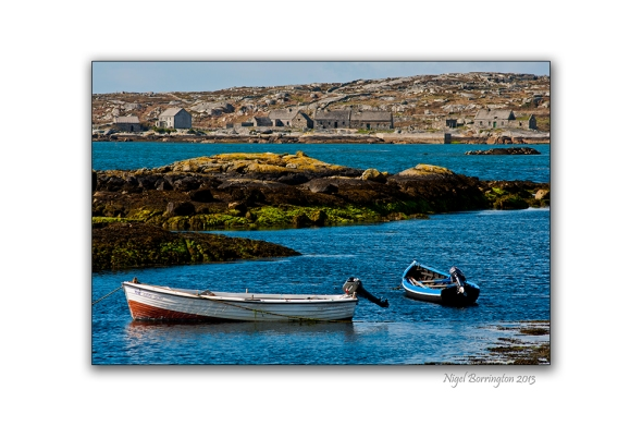 Fishing boats on galway bay