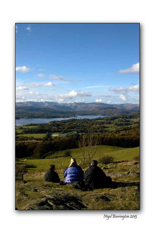 Lake district taking in the view