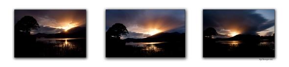 Looking at the sunset at Killarney