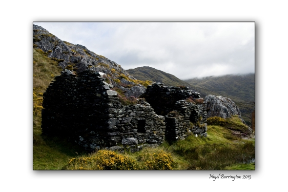 old miners cottage above mine