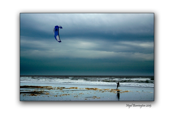 Kite flyer Bunmahon Beach