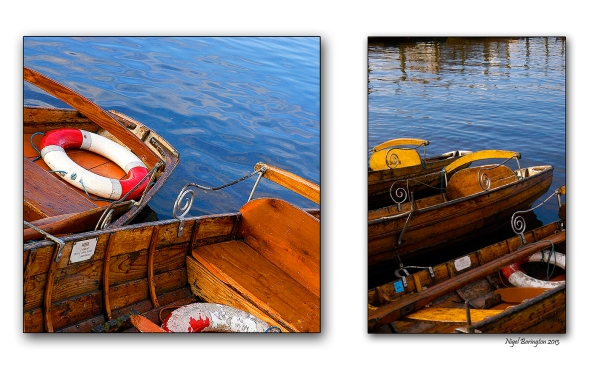 three rowing boats on Windermere lake