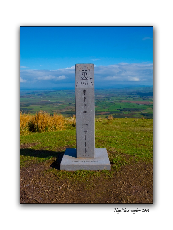 A modern megolithic monument on slievenamon
