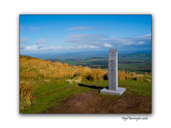 the modern megolithic monument on slievenamon