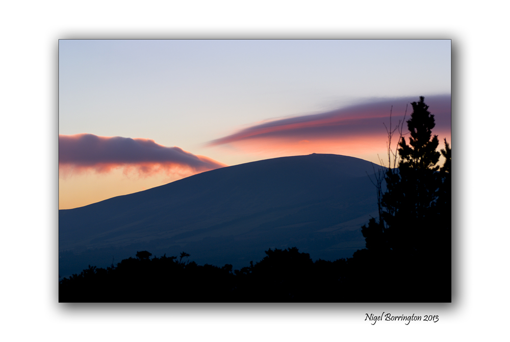 Sunset over Slievenamon
