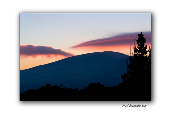 Sunset over Slievenamon