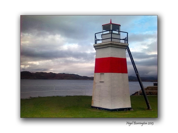 The harbour lighthouse Crinan