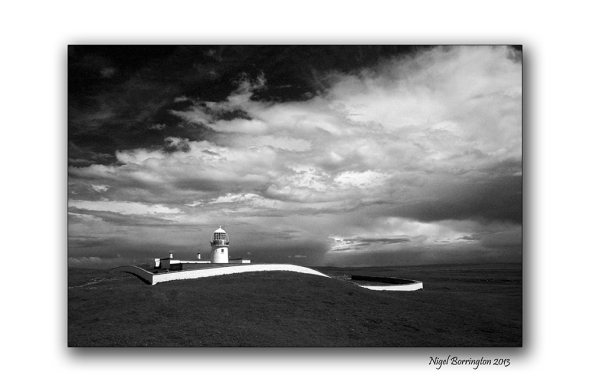 St Johns point lighthouse 2 bw