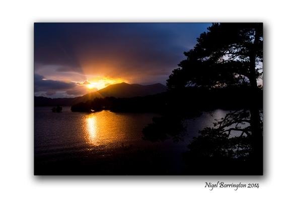 Lower lake killarny Sunset