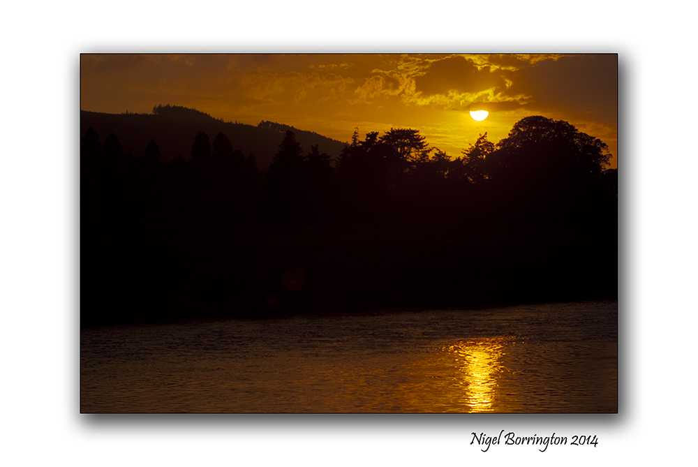 Sunset over the river Suir 1