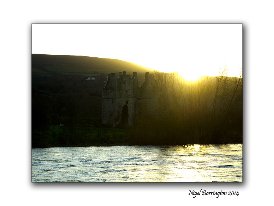 Changing light of the river bank