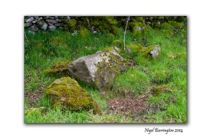 Standing stone marking a well/spring