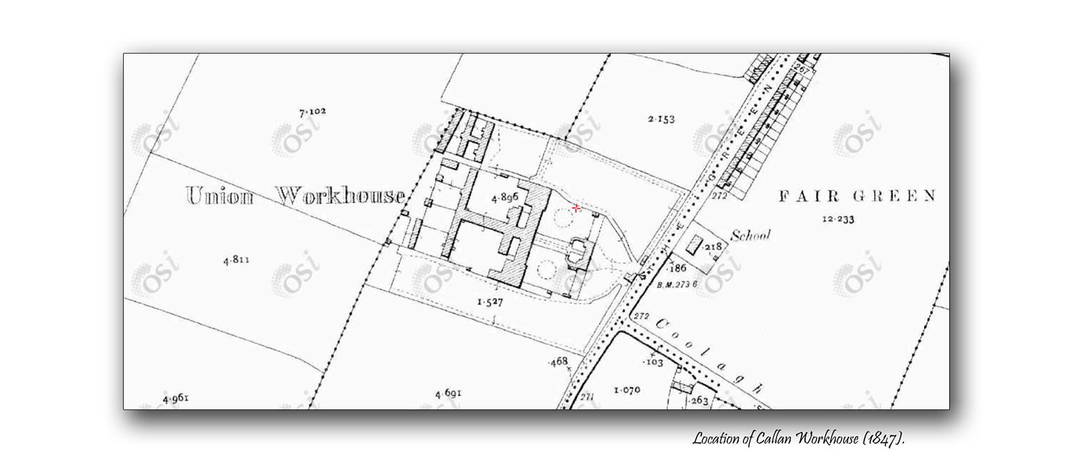 Callan Workhouse map osi maps
