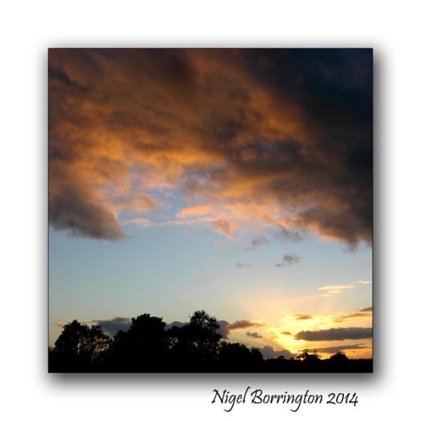 From Sunday to Monday Sunday sunset