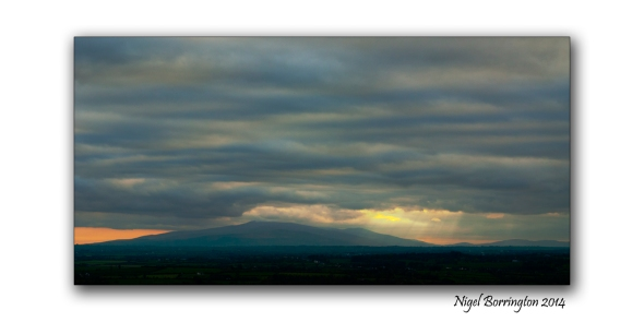 A distant view of Slievenamon, County Tipperary, Ireland. Irish Landscape Photography : Nigel Borrington