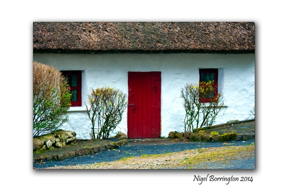 The Red Cottage door Irish Landscape Photography : Nigel Borrington