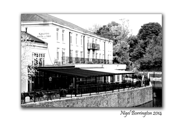 River court kilkenny 6 black and white high key