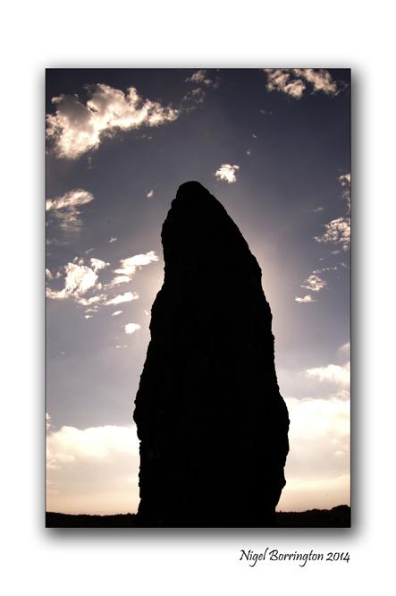 Sunrise behind the standing stone. Knockmealdown Mountains. County Waterford. Irish landscape Photography : Nigel Borrington