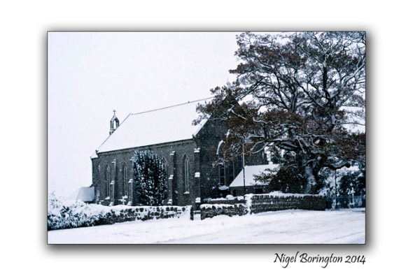 Snow on Snow St Mary's church County Carlow Irish Landscape Photography : Nigel Borrington