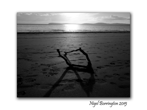 Shadows on the beach Nigel Borrington