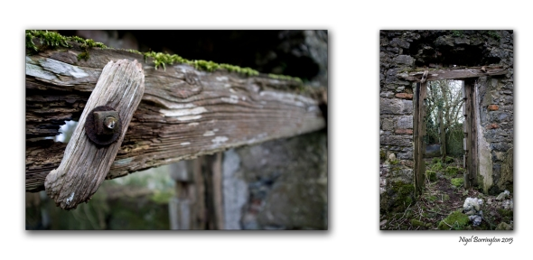 A closer look, The old wood that Frames the door. Irish landscape Photography : Nigel Borrington