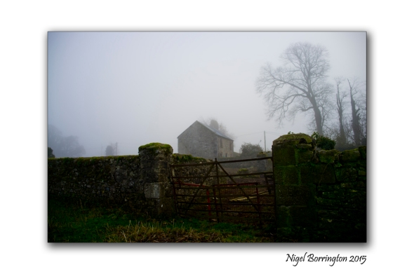Kilkenny Landscape Photography gate on a farm on a winters day
