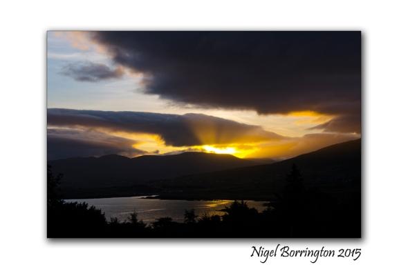 Sunrise at Cahirkeen Cross Beara peninsula Irish Landscape Photography : Nigel Borrington