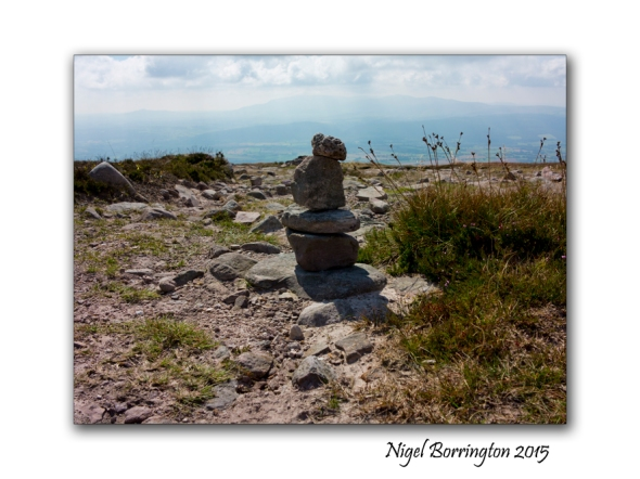 Slievenamon, County Tipperary , Rock Balancing on the top of the Mountain 01