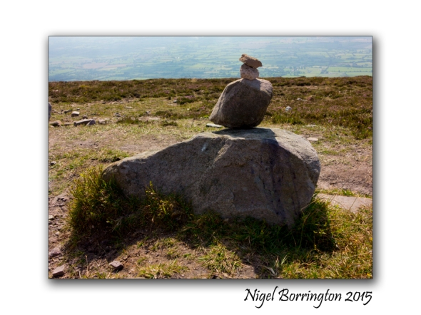 Slievenamon, County Tipperary , Rock Balancing on the top of the Mountain 02