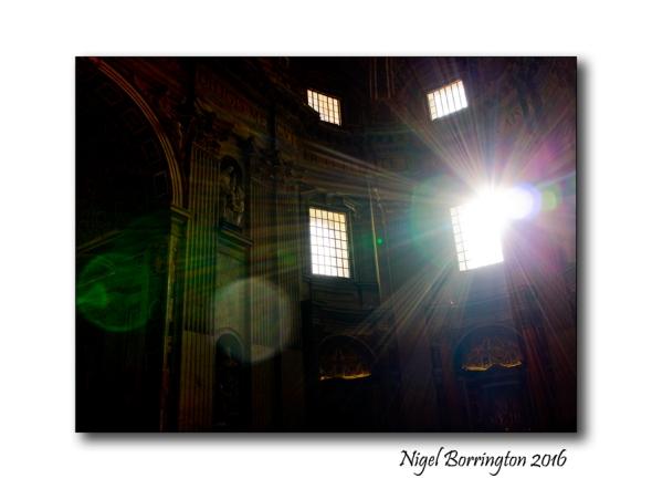 Light of The Universe St Peters  Rome Nigel Borrington