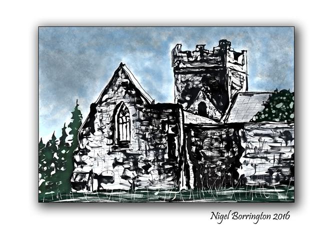Sketches of Ireland Kilcooley Abbey Tipperary Nigel Borrington