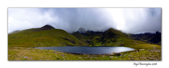 lough callee carrauntoohil Mountain  Macgillycuddy's Reeks range county kerry panorama By Nigel Borrington