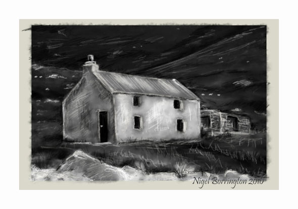 Old Farm house Keem Strand  Achill Island county Mayo Nigel Borrington