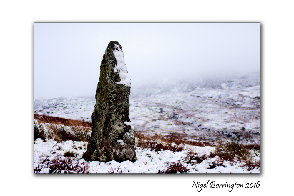 Irish standing stones Carrigeen Nire Valley  County Waterford