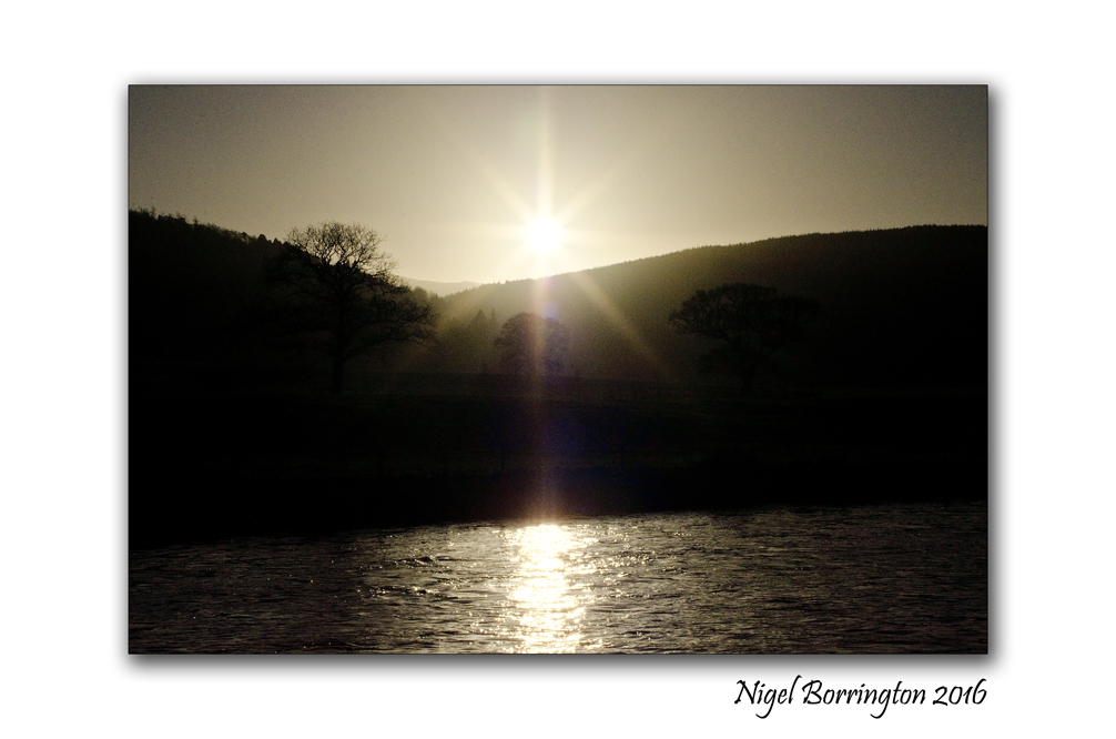 Sunset over the river River Suir  Tipperary