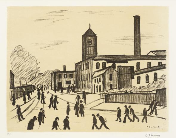 City-scapes  A Northern Town 1969-70 L.S. Lowry 1887-1976 Presented by Ganymed Press 1979 http://www.tate.org.uk/art/work/P03274