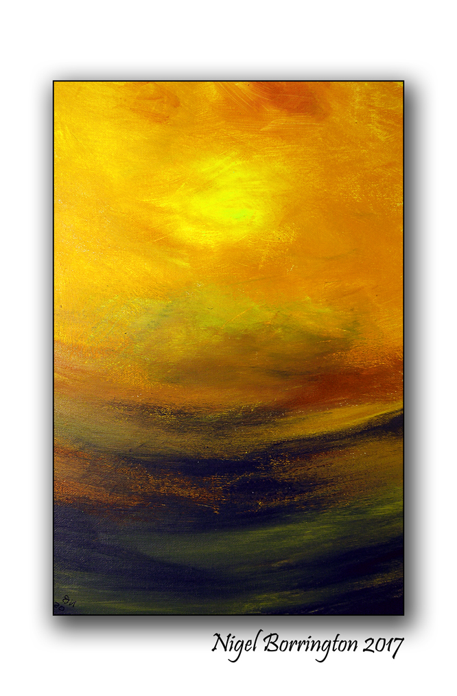 Abstract Sunset Nigel Borrington
