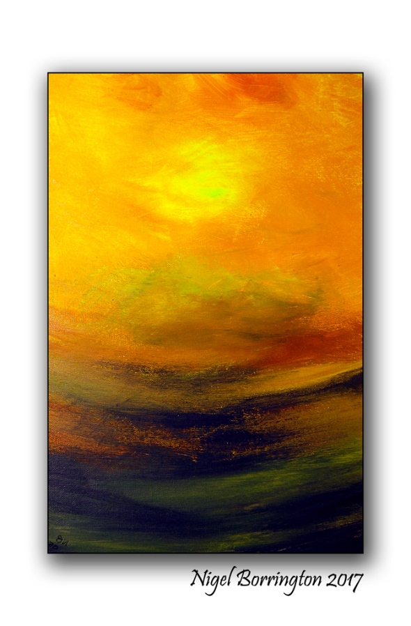 Abstract Sunset Nigel Borrington