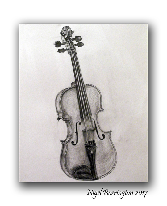 My Violin  Drawing from life Pencil on Paper Nigel Borrington