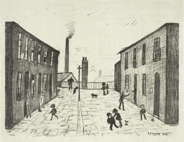 Francis Terrace, Salford 1969-72 L.S. Lowry 1887-1976 Presented by Ganymed Press 1979 http://www.tate.org.uk/art/work/P03277