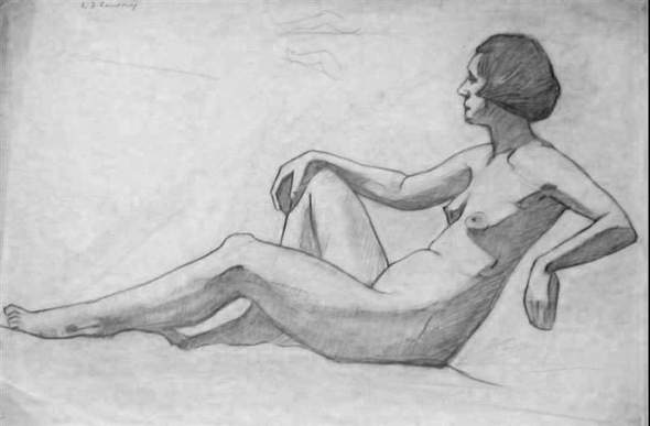 Life drawing LS Lowry