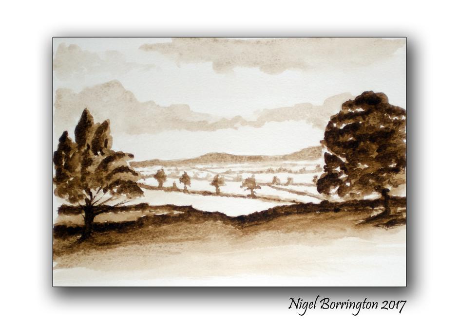 Watercolour Sketch County Kilkenny Ireland