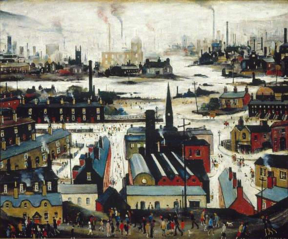 Lowry, Laurence Stephen; Industrial City; British Council Collection; http://www.artuk.org/artworks/industrial-city-176858