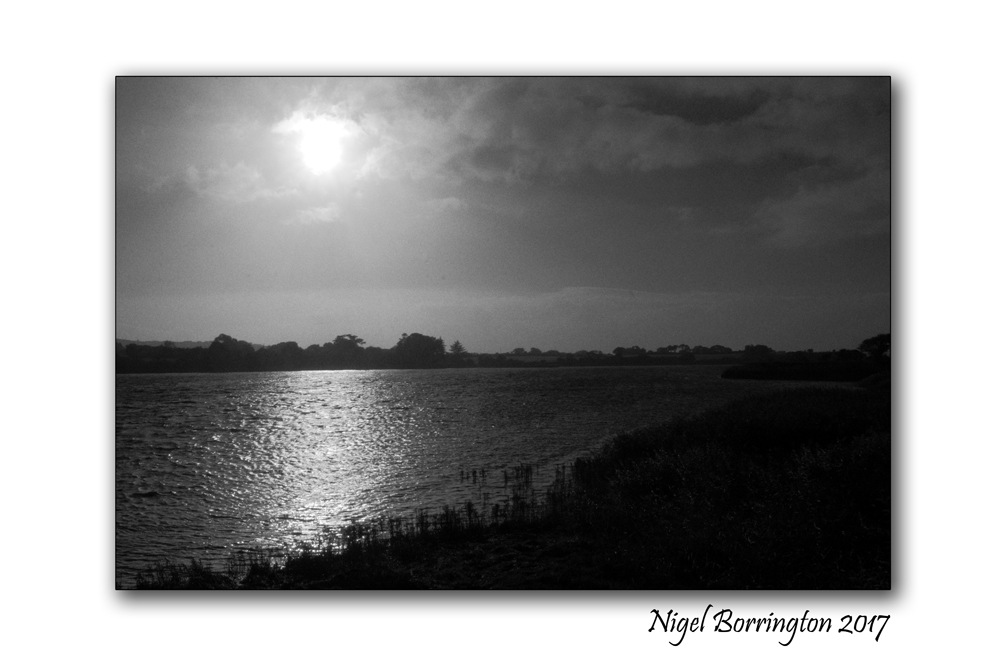 Seven day black and white photo challenge moon light over the river